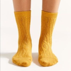 Urban Outfitters Cable Knit Crew Sock
